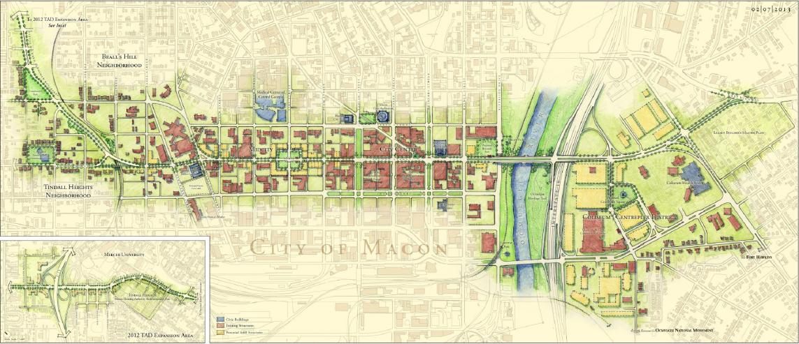 Macon-Bibb begins extending Second Street Corridor's Vision Block on Monday