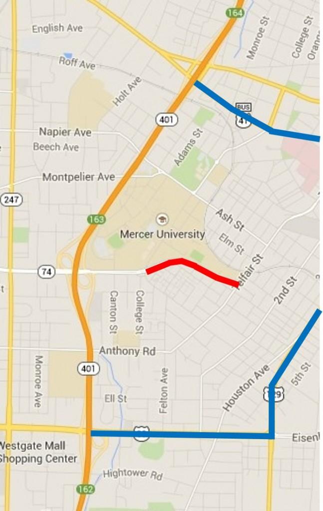 Second Street Corridor Connector Detours