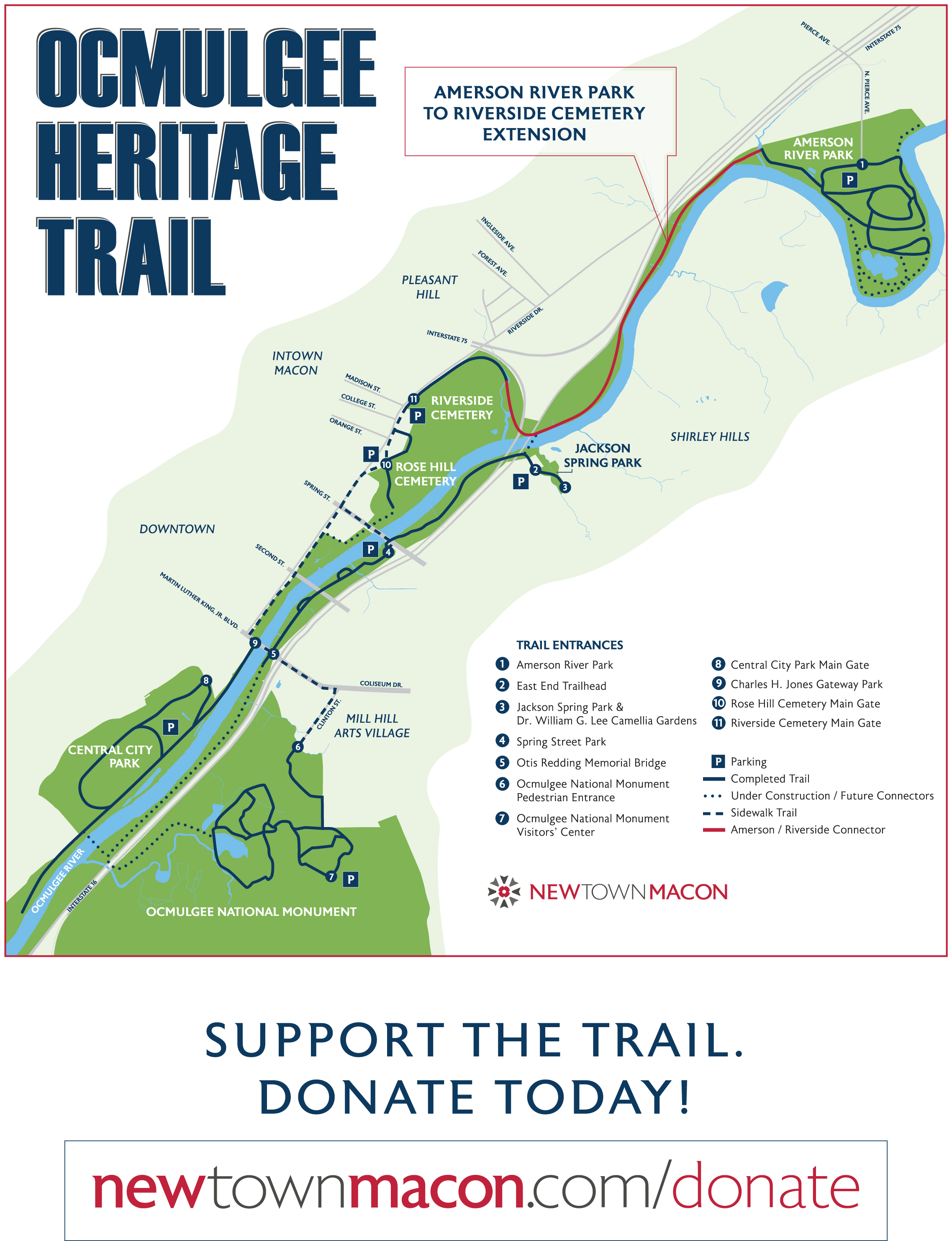 Dnr Grant To Fund Heritage Trail Extension Macon Bibb County Georgia