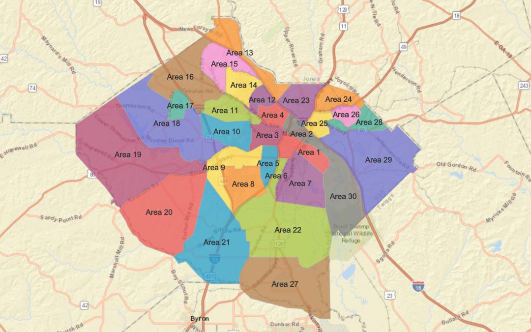 Map Of Georgia District 6.Public Works Macon Bibb County Georgia