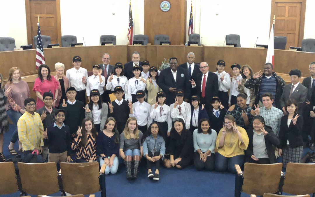 16 students from Kurobe, Japan  visiting Macon-Bibb County