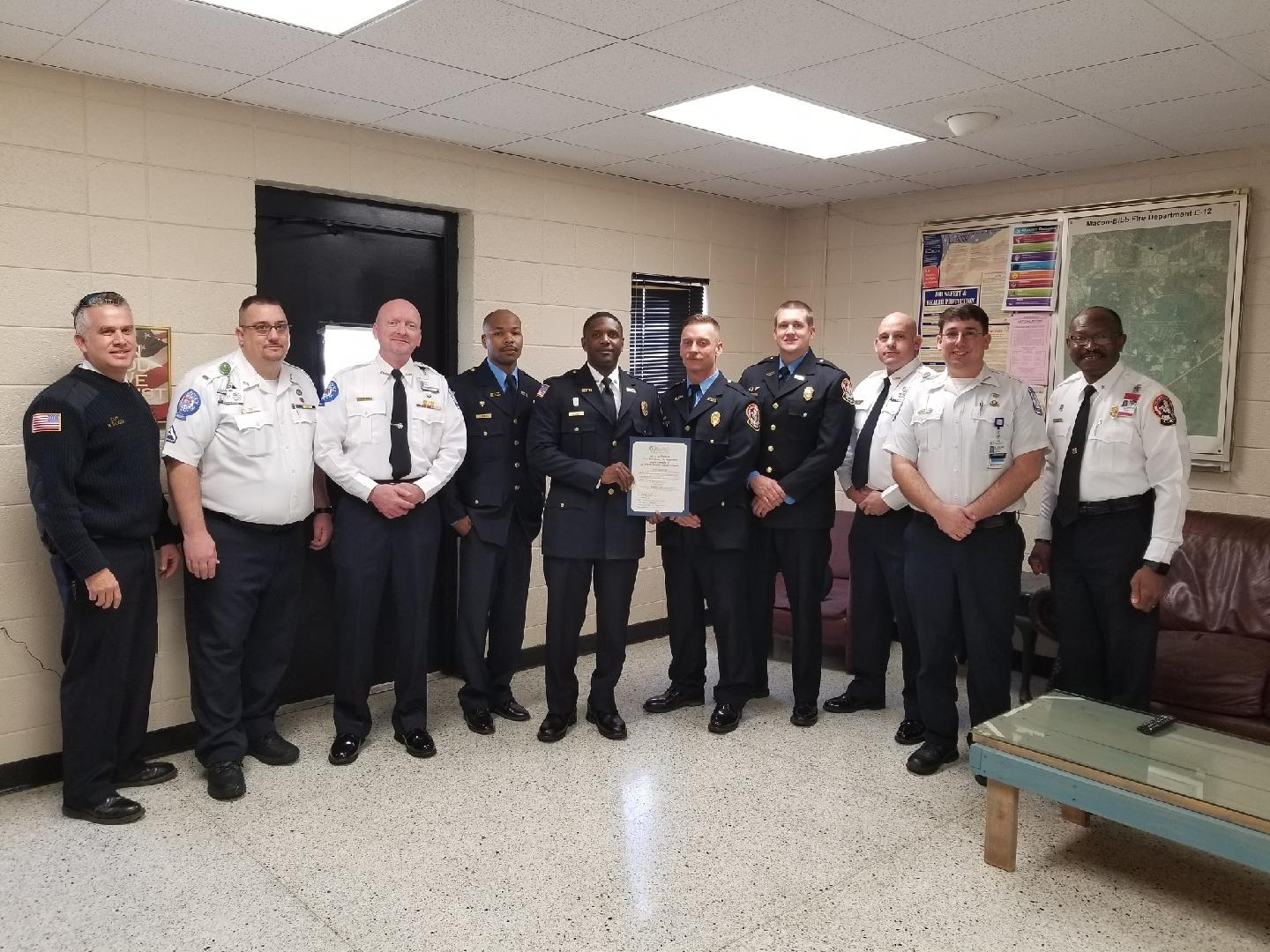 Firefighters receive Medical Save Award from Navicent ...