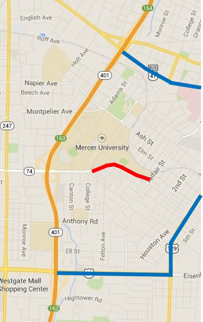 Second Street Corridor Connector Detours