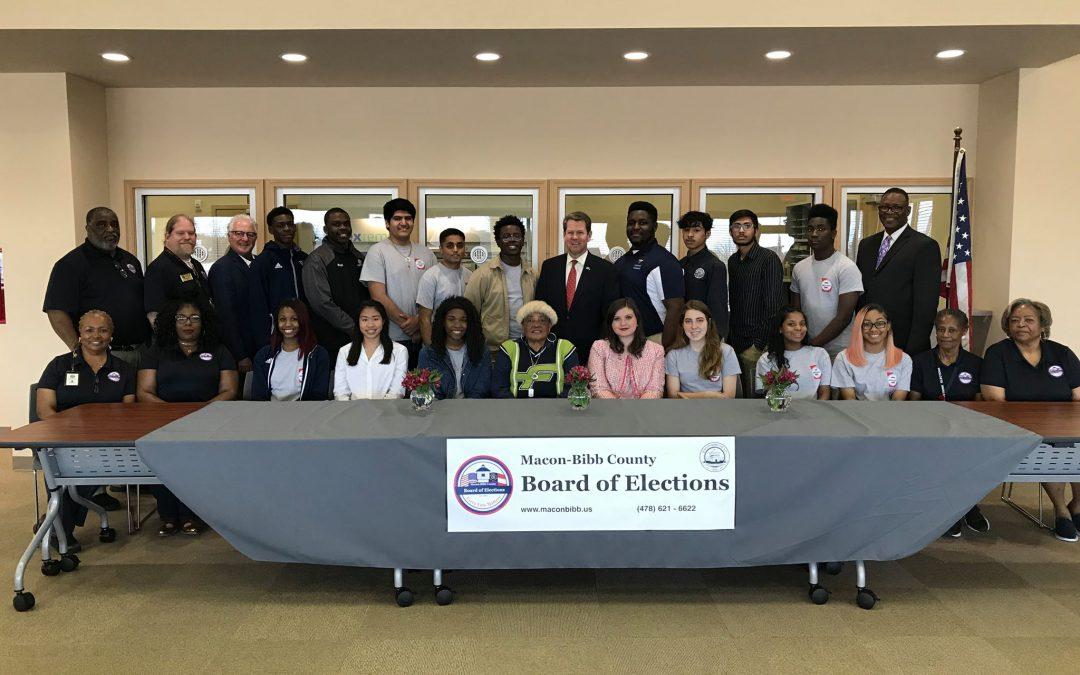 Macon-Bibb students meet with GA Secretary of State
