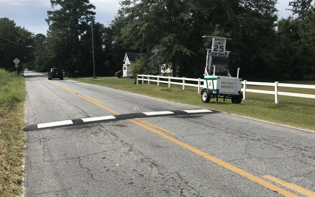 Nisbet Drive speed bumps installed