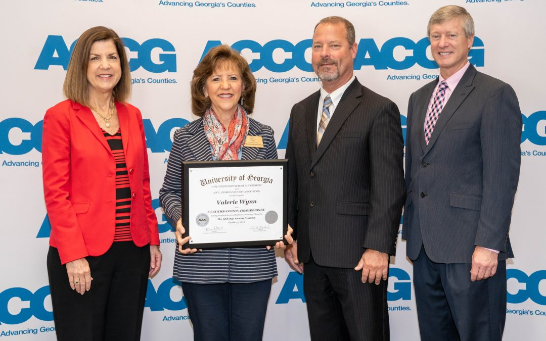 Commissioner Valerie Wynn earns state certification