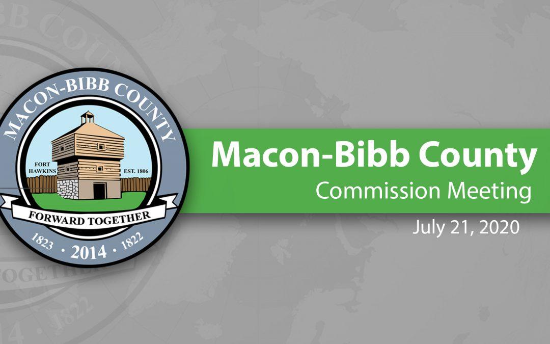 Recap of July 21, 2020 Macon-Bibb Commission Meeting
