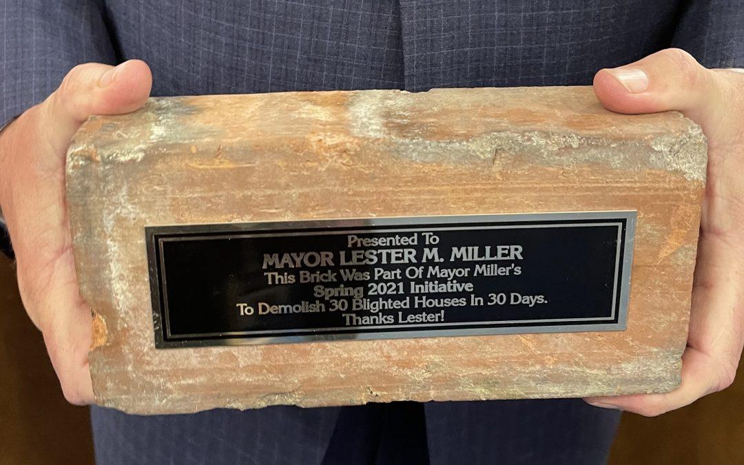 Commission recognizes Mayor Miller for efforts in fight against blight