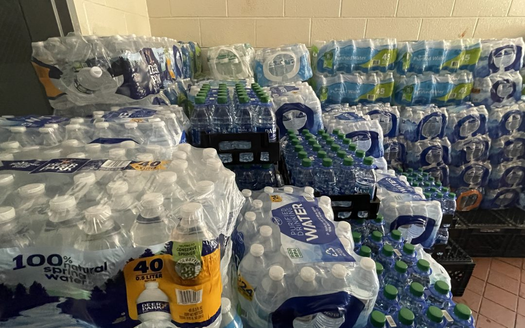 Community donates about 1,300 cases of water in Water Challenge