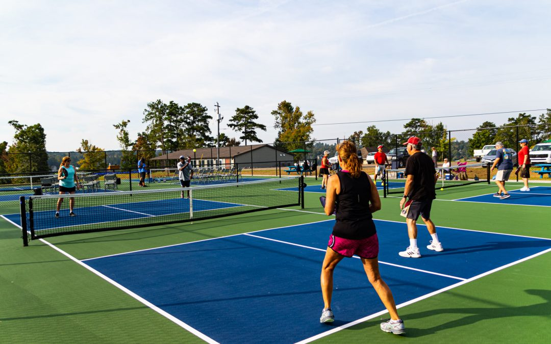 Great fun, view at new Lake Tobesofkee pickleball courts